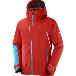 Salomon Race Jacket M Goji Berry C15870 pánská nepromokavá zimní lyžařská bunda 20000