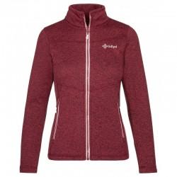 Kilpi Regin-W tmavě červená dámská sportovní funkční teplá mikina/svetr fleece