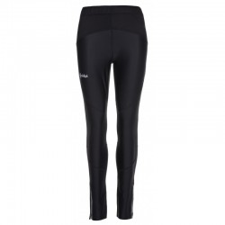Kilpi Karang-W černá LL0069KIBLK dámské elastické běžecké zateplené kalhoty - legíny