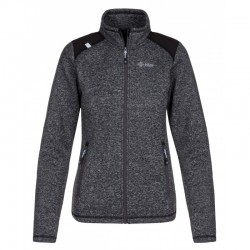 Kilpi Regin-W tmavě šedá dámská sportovní funkční teplá mikina/svetr fleece