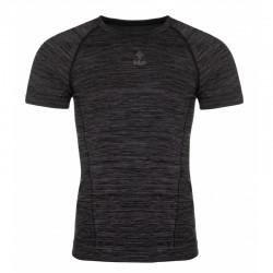Kilpi Leape-M tmavě šedá pánské funkční rychleschnoucí outdoorové triko krátký rukáv