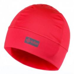 Kilpi Tail-U růžová dámská sportovní funkční zimní běžecká čepice uvnitř s jemným fleecem