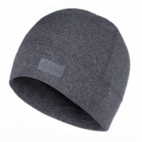Kilpi Tail-U tmavě šedá unisex sportovní funkční zimní běžecká čepice uvnitř s fleecem