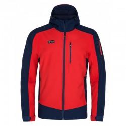 Kilpi Presena-M červená pánská zateplená softshellová bunda