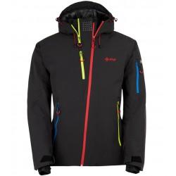 Kilpi Asimetrix-M černá HM0120KIBLK pánská nepromokavá zimní lyžařská bunda
