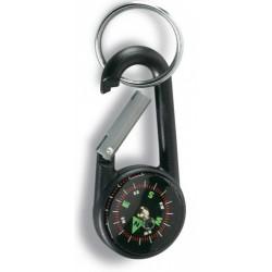 Spat Karabina s kompasem a kroužkem černá