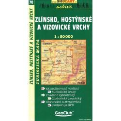 SHOCart 70 Zlínsko, Hostýnské a vizovické vrchy 1:50 000
