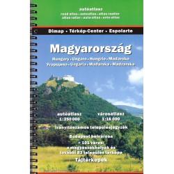 Dimap Maďarsko 1:250 000 autoatlas, plány měst 1:16 000