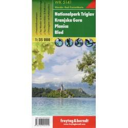 Freytag & Berndt WK 5141 Triglavský národní park, Kranjska Gora, Planica, Bled 1:35 000