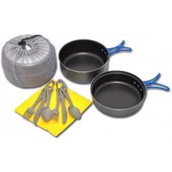 VAR (ALB Forming) Kempinková sada PTFE nepřilnavé kempingové nádobí Alu