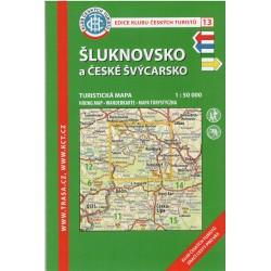KČT 13 Šluknovsko, České Švýcarsko 1:50 000