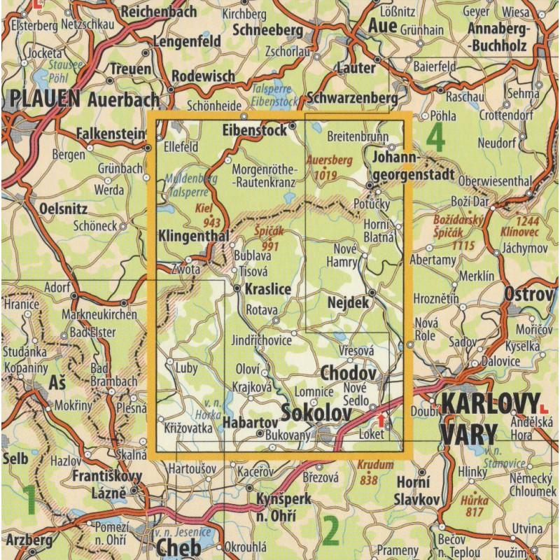 Kct 3 Krusne Hory Kraslicko 1 50 000 Turisticka Mapa