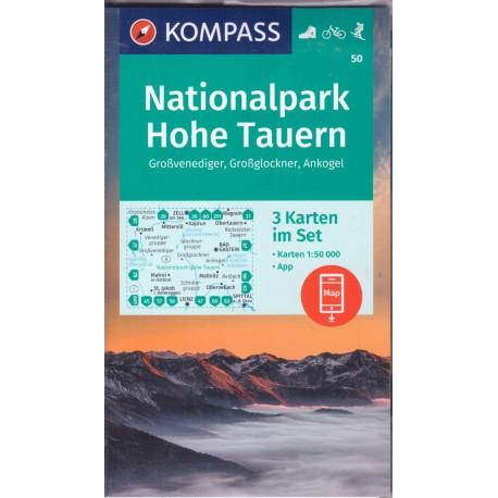Kompass 50 Np Hohe Tauern Vysoke Taury 1 50 000 Turisticka Mapa