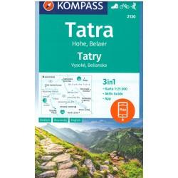 Kompass 2130 Tatry Vysoké, Belianske 1:25 000
