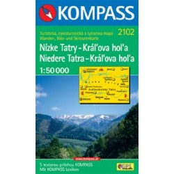 Kompass 2102 Nízké Tatry - Král'ova hol'a 1:50 000 turistická mapa