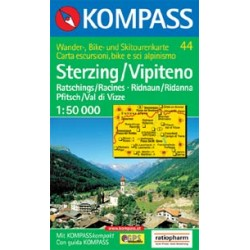 Kompass 44 Sterzing/Vipiteno 1:50 000