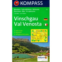 Kompass 52 Vinschgau/Val Venosta 1:50 000