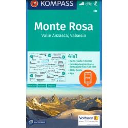 Kompass 88 Monte Rosa 1:50 000