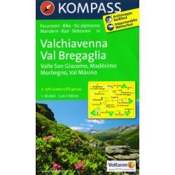 Kompass 92 Valchiavenna, Val Bregaglia 1:50 000 turistická mapa