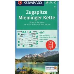Kompass 25 Zugspitze, Mieminger Kette 1:50 000