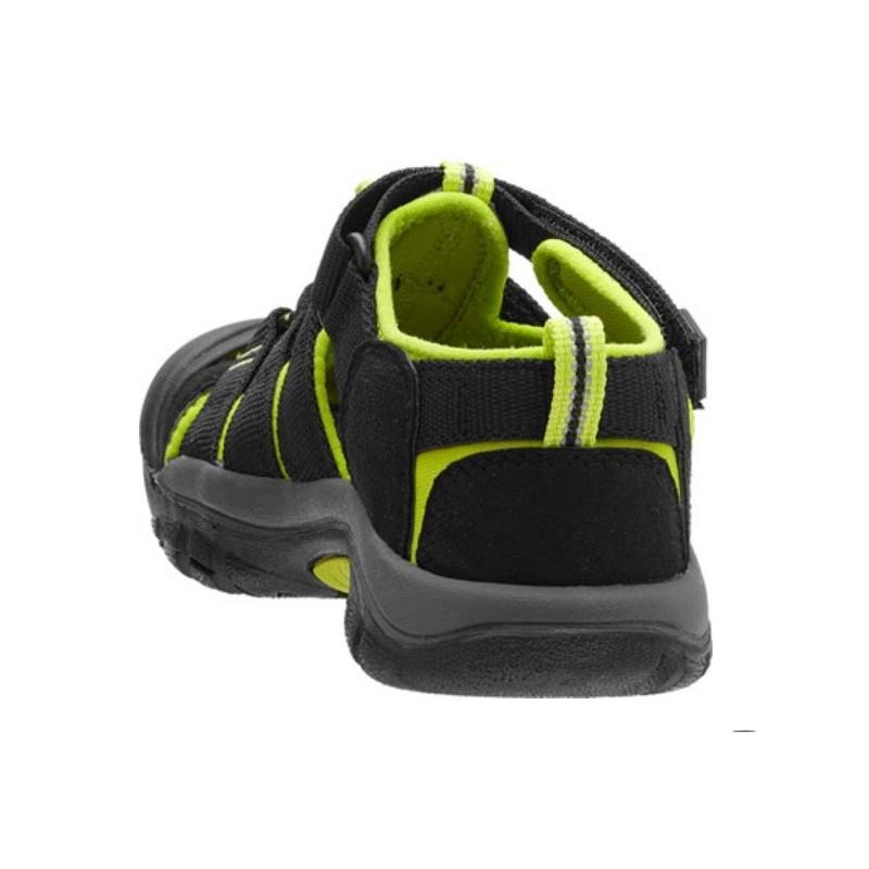 206ee11f7d0 ... Keen Newport H2 Jr black lime green dětské outdoorové sandály i do vody  (5 ...