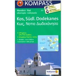 Kompass 252 Kos, Südl. Dodekanes 1:50 000