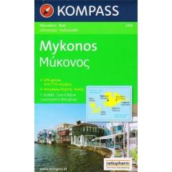 Kompass 249 Mykonos 1:35 000