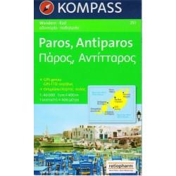 Kompass 251 Paros, Antiparos 1:40 000