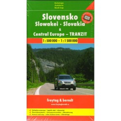 Freytag a Berndt Slovensko, střední Evropa tranzit 1:500 000 - 1:1 500 000 automapa