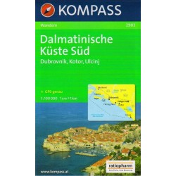 Kompass 2903 Dalmatinische Küste Süd 1:100 000
