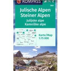 Kompass 2801 Julischen Alpen, Steiner Alpen 1:75 000