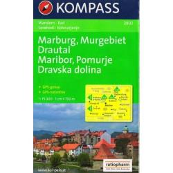 Kompass 2802 Maribor, Murgebiet, Drautal 1: 75 000