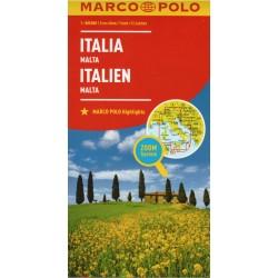 Marco Polo Itálie, Malta 1:800 000 automapa