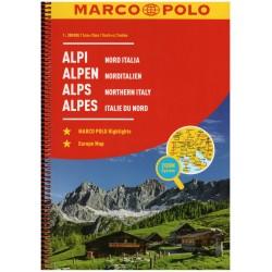 Marco Polo Alpy - Severní Itálie 1:300 000 autoatlas