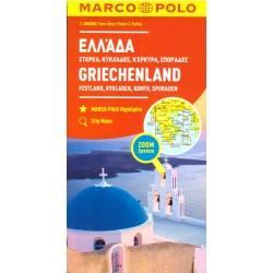 Marco Polo Řecko - pevnina, Kyklády, Korfu 1:300 000 automapa