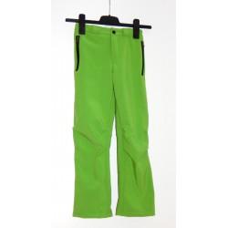 Alpisport Peak Kids zelená dětské softshellové kalhoty Rivertex Softshell