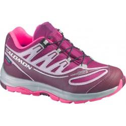 471b23f740a Salomon XA Pro 2 WP K mystic purple bordeaux 366705 dětské nízké nepromokavé  boty