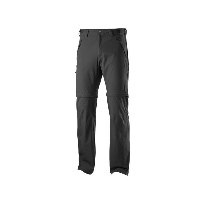 851225d5cdb4 Salomon Wayfarer Zip Pant M black 370972 pánské odepínací turistické softshellové  kalhoty