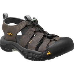 Keen Newport M neutral gray/gargoyle pánské kožené outdoorové sandály