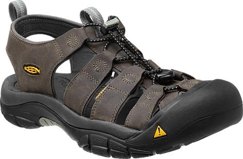 Keen Newport M neutral gray gargoyle pánské kožené outdoorové sandály 7e76a624b6