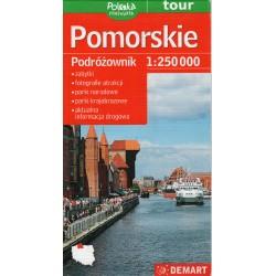 DEMART Województwo Pomorskie/Pomořské vojvodství 1:250 000 automapa
