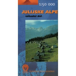 Geodetski Julské Alpy východ 1:50 000 turistická mapa
