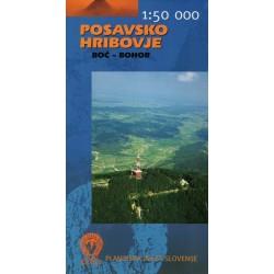 Geodetski Posavsko Hribovje/Posávská vrchovina, Boč - Bohor 1:50 000 turistická mapa