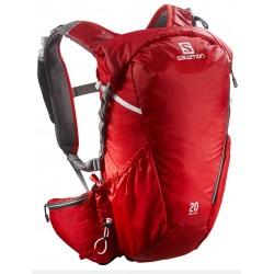 Salomon Agile 2 20 AW bright red/white 376510 běžecký batoh