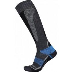 Husky Snow Wool černá/modrá lyžařské podkolenky Merino vlna