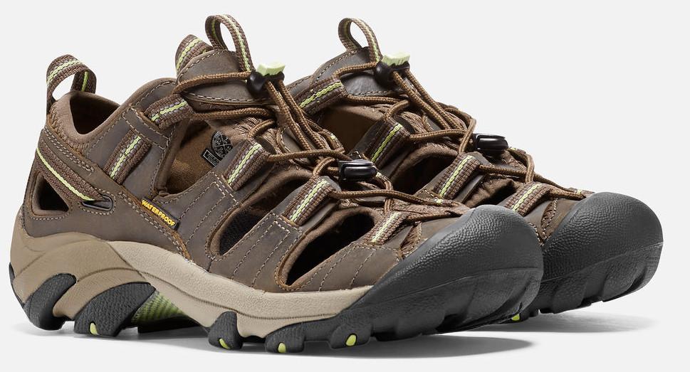 08893520292e Keen Arroyo II W chocolate chip sap green dámské kožené outdoorové sandály