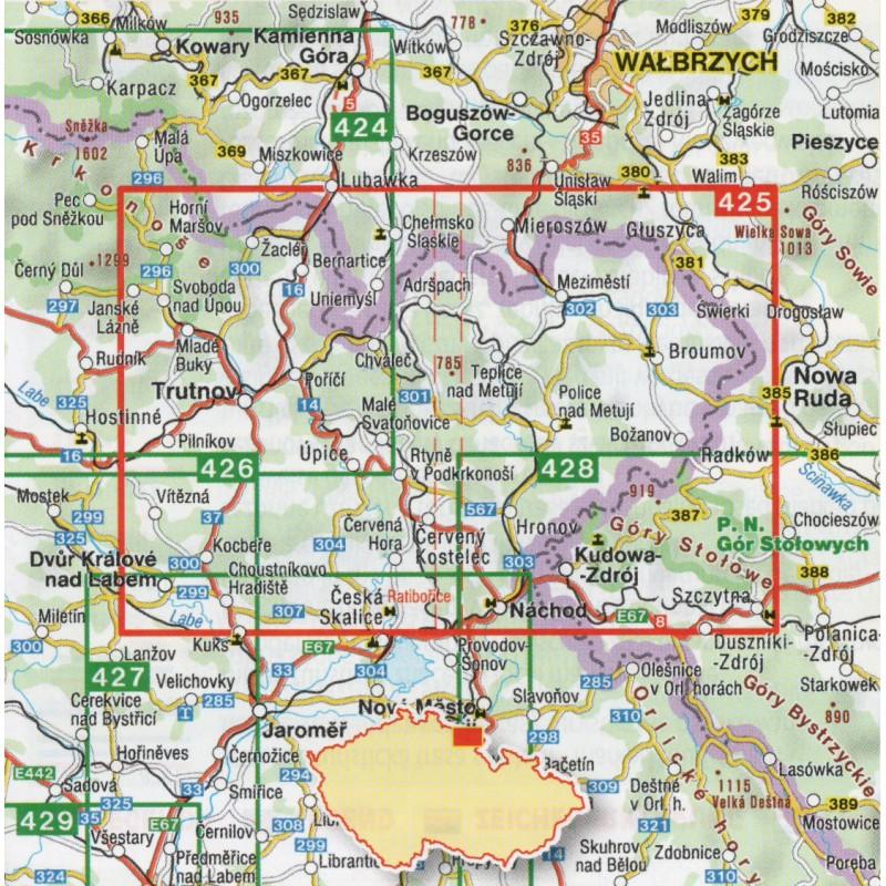 Shocart 425 Broumovsko Adrspach 1 40 000 Turisticka Mapa
