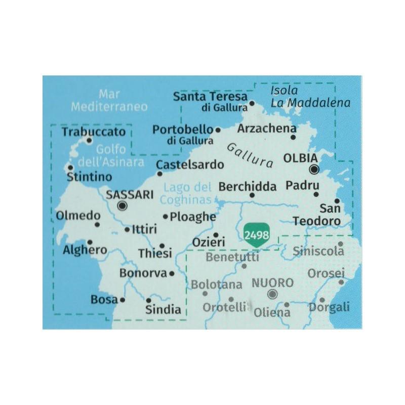 Kompass 2497 Sardegna Nord Sardinie Sever 1 50 000 Turisticka Mapa