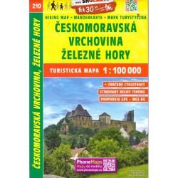 SHOCart 210 Českomoravská vrchovina, Železné hory 1:100 000