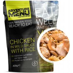 Adventure Menu Kuře na divoko s rýží 1 porce 400g sterilované jídlo na cesty